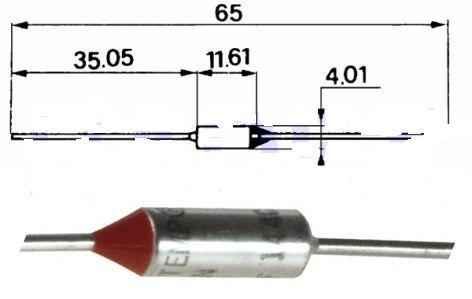 Tepelná pojistka 121° - KVDK358